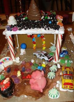 Garage Gingerbread House