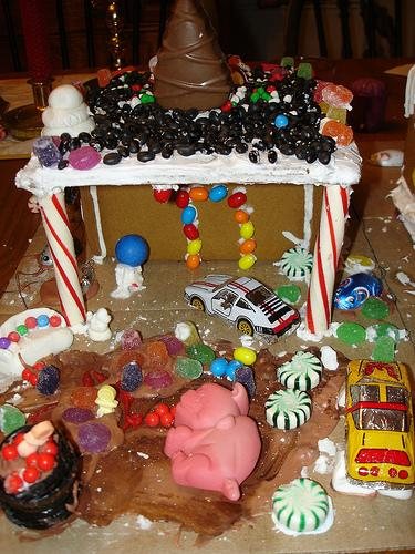 Garage Gingerbread House
