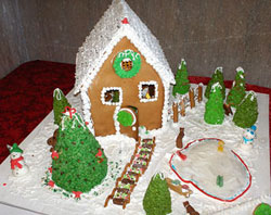 basic gingerbread house
