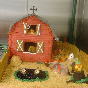 gingerbread barn