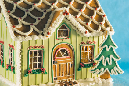 adorable gingerbread bungalow template can be used to make a house ...