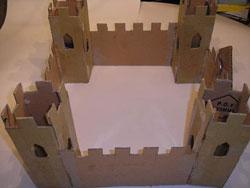 simple gingerbread castle