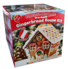 preassembled gingerbread house kit
