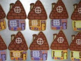 cute house cookies