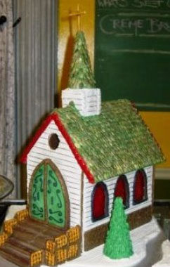 edible church with seed roof