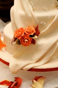 fondant draped on cake