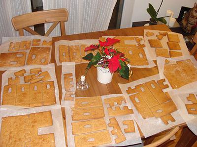 Gingerbread Castle Cookies