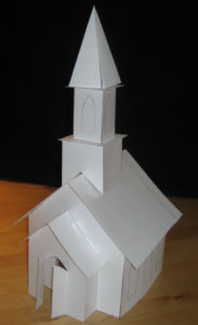 gingerbread church template