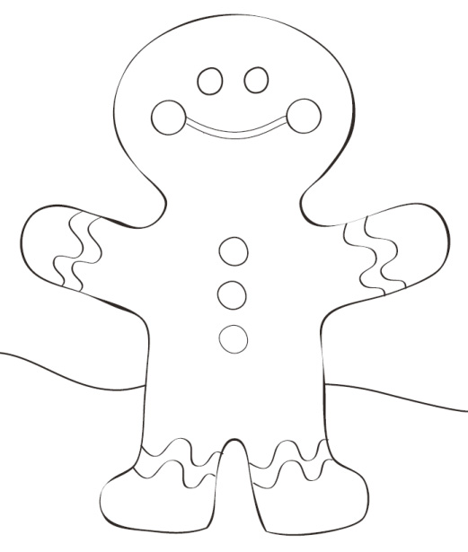 66301340 Gingerbread Man Coloring Pages - Gingerbread Man Outline ... | 615x521
