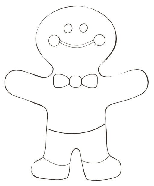 Free Coloring Pages Of Gingerbread Man Outline