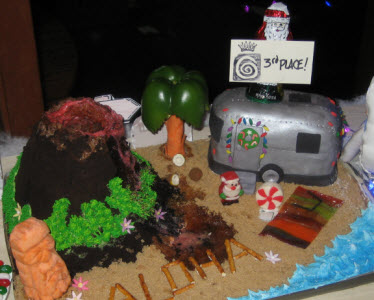 gingerbread airstream trailer