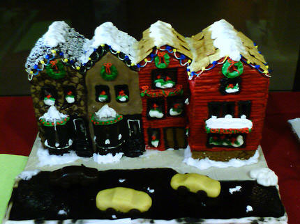 gingerbread townhouses