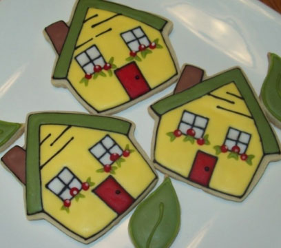 house cookie cutter cookies