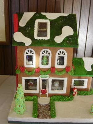 gelatin gingerbread house windows