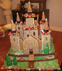 Gingerbread Castle with Turrets