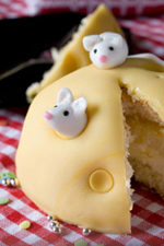 marzipan cheese and mice