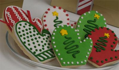 mitten Christmas cookies