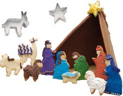 nativity scene cookie cutters