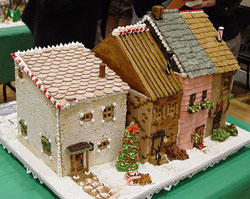 gingerbread rowhouses pattern