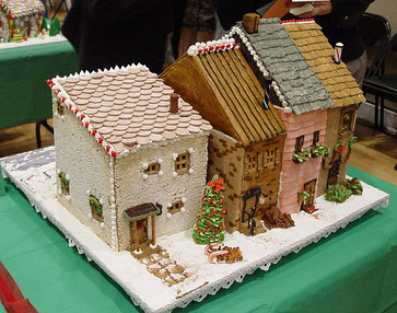 gingerbread rowhouses template