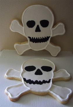 skull crossbone cookies
