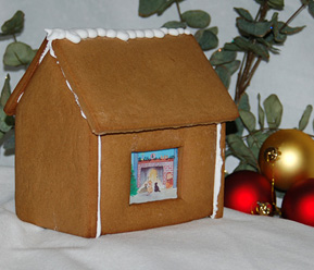 prebaked gingerbread house