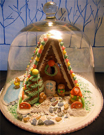 Gingerbread Under Glass