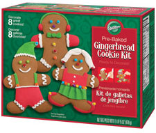 gingerbread man cookies kit