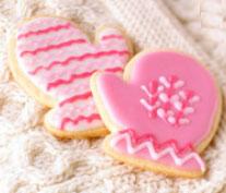 baby mitten cookies