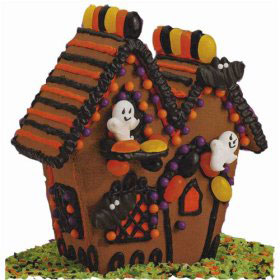 basic haunted halloween gingerbread house