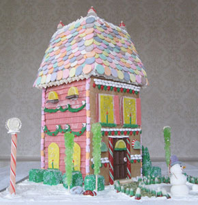 Gingerbread Two Story City House