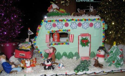 gingerbread vintage trailer