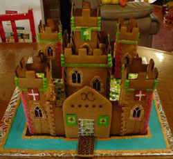 medieval gingerbread castle