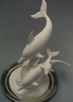 pastillage showpiece dolphins
