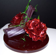 rose sugar showpiece