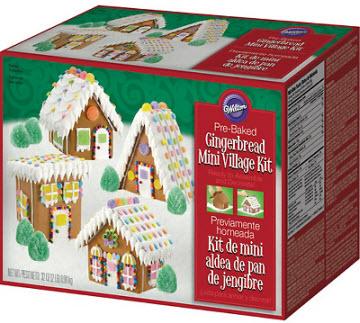 wilton-gingerbread village mini kit