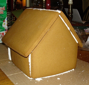 Gingerbread House Being Built step 2