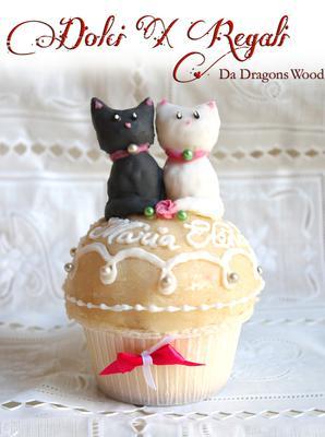 marzipan cat cupcake