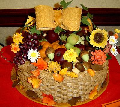 Autumn Basket with Marzipan