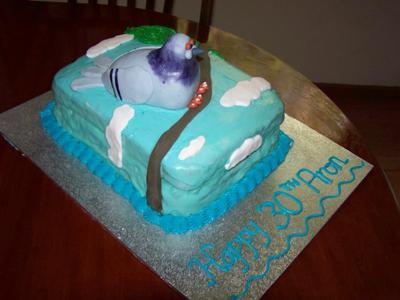 pigeon cake with fondant