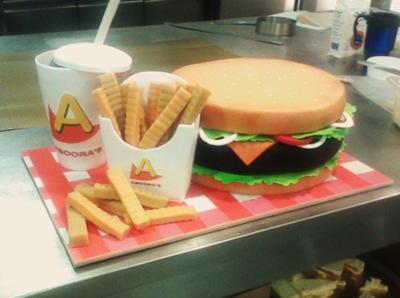 Hamburger combo cake