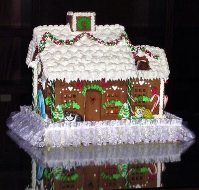 Cat Lovers Gingerbread House