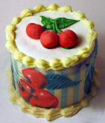 Fondant Cherries Cake