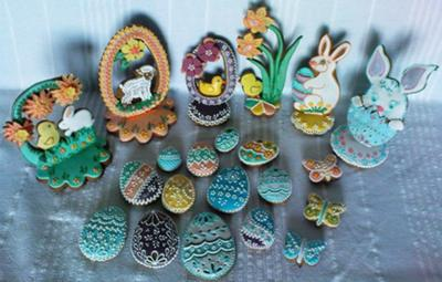 Easter gingerbread decorations