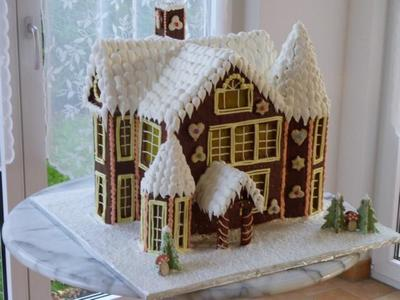German Gingerbread House on german lebkuchen, german chocolate, german bread, german peach tart, german cakes, german incense smoker houses, german christmas houses, german christkind, german cooking, german holidays, german heart, german cookie house, old-fashioned german house, german nativity, german desserts,