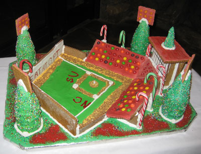 Gingerbread Baseball Stadium