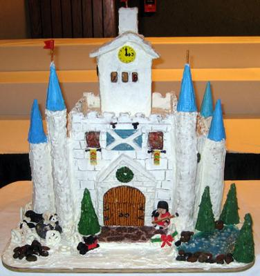 gingerbread castle template