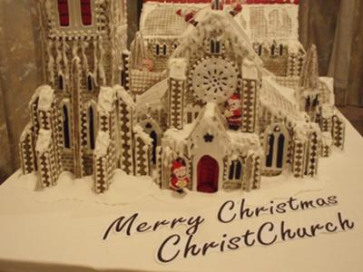 Gingerbread Christchurch Cathedral New Zealand