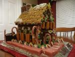 Front and side of the gingerbread house