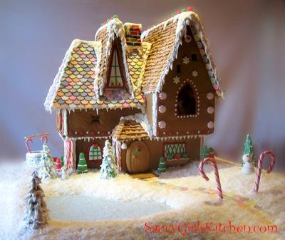 Gingerbread House Built By Saucy Girl S Kitchen